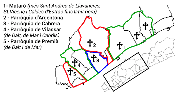 Mapa Parroquies Baronia Maresme